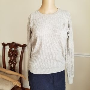J Crew Cambridge Cable Knit Sweater S